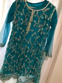 Teal and gold Indian dress  Woodbridge, 22191