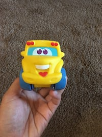 Yellow and blue plastic toy