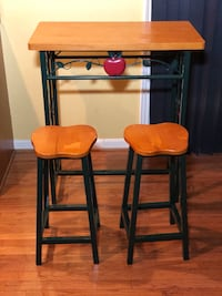 Kitchen Pub Table Set w 2 Stools Upper Marlboro, 20772