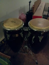 two black-and-beige drums with silver stands Gaithersburg, 20879