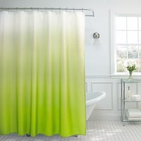 Shower Curtain - Ombre Weave Shower Curtain in Lime Toronto