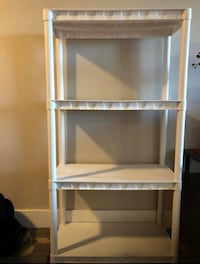 white wooden 3-layer shelf Foster City, 94404