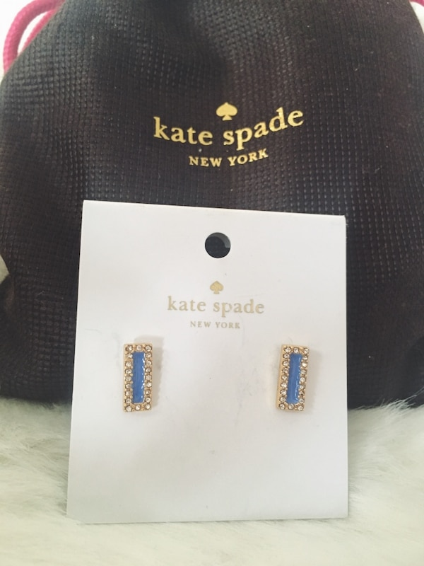 BRAND NEW Kate Spade Earrings & Pouch dc397944-243d-427c-b3cc-6316abde3d85