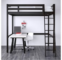 Double bed white IKEA bunk bed.  Olney, 20832