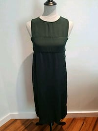 Forever 21 dark forest green dress with cut outs