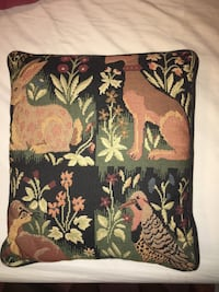Black and green Animal embroidered  pillow Stuart, 34997