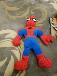 blue and red Spider-Man plush toy 24 km