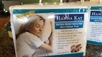 Hannah Kay hypoallergenic quilted stretch to fit mattress pad twin bed