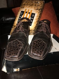 Brown Ankle Crocodile and Snakeskin Boots Size 9 1/2 with Box Philadelphia, 19132