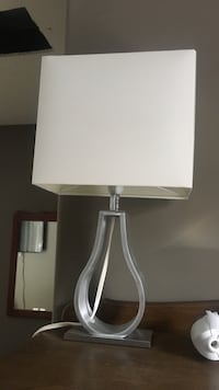 white and gray table lamp Hamilton, L0R 1C0