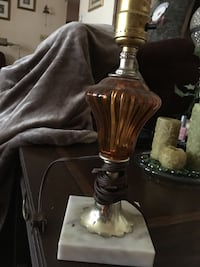 brown and silver-colored glass table lamp base York township, 17403
