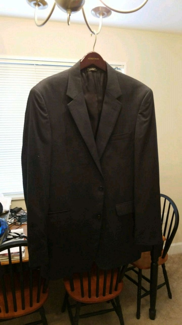 42 long navy jos a bank sport coat