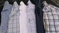 Various guys short sleeve button up shirts
