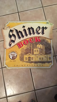 Rare shiner bock tin sign, large Austin, 78705
