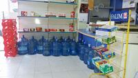 blue plastic water container