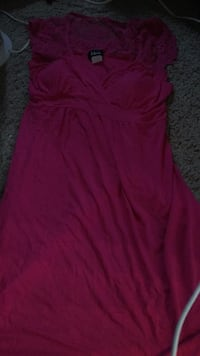 Hot pink lace  dress ! large !by taboo