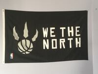 WE THE NORTH FLAG - sprayed on by Siakam Toronto, M1X 1W2
