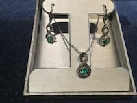 New Costume 18k gold plated emerald set Wasaga Beach, L9Z 2T4