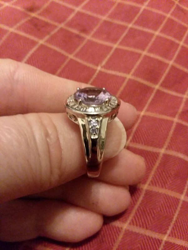 Silver Ring with Rose de France Amethyst e22033ff-29d5-4a9a-8595-2213f828c674