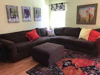 SECTIONAL SOFA & LARGE OTTOMAN $450.00 CLARKSVILLE