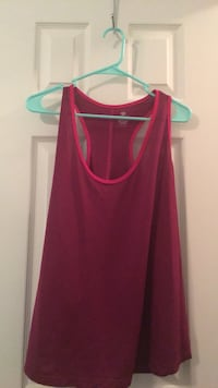 red scoop-neck sleeveless top Waverly Hall, 31831