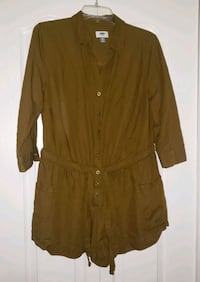 1X Old Navy Cargo Button Up Shorts Romper Summer Vaughan, L4K