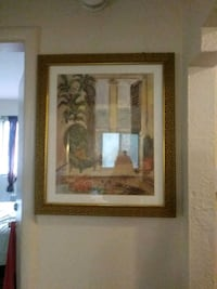 brown wooden framed painting of house Providence, 02909