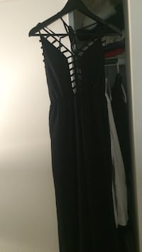 Black caged jumpsuit from Tobi