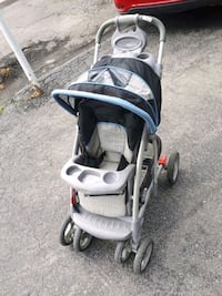 baby's gray and black stroller 725 km