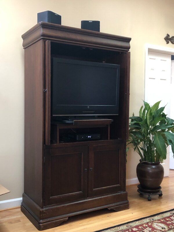 Solid wood entertainment Armoire by Hooker 6e2620cf-53c8-4265-934f-08e4fbce2f7f