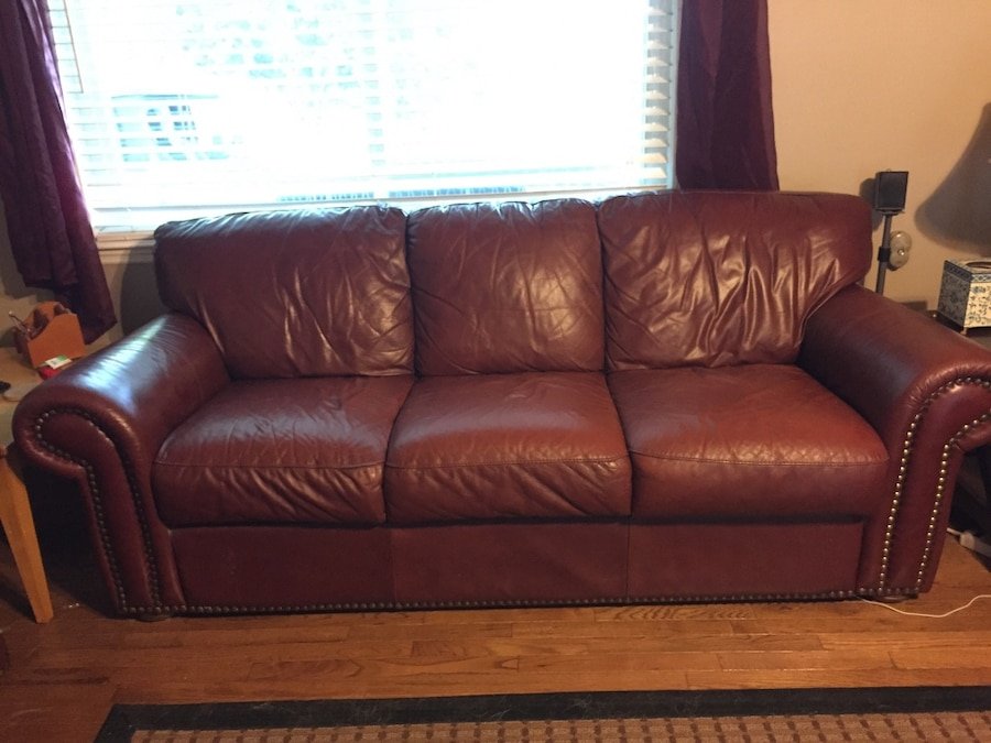 used living room set used brown leather living room set in dalton 14331