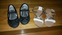 two pairs of black and brown sandals San Leandro, 94579