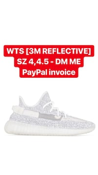 YEEZY BOOST 350 V2 STATIC [3M REFLECTIVE] (US 4,4.5) **CONFIRMED** Silver Spring, 20910