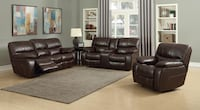 black leather sofa set with coffee table Houston, 77075