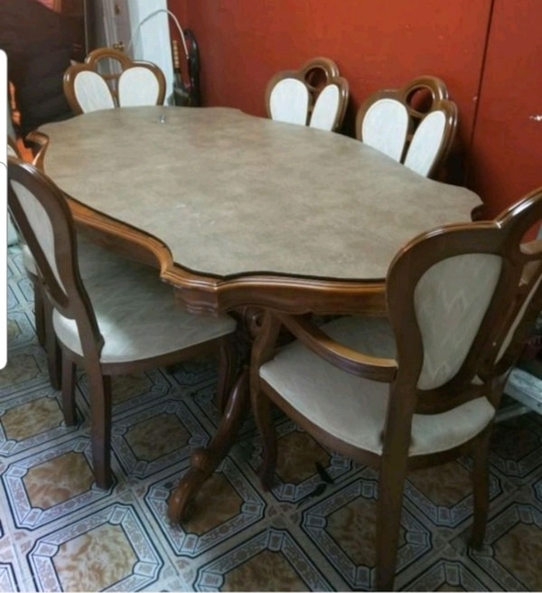6 Seat Dining Room Table Set