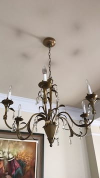 brass and white uplight chandelier Germantown, 20874