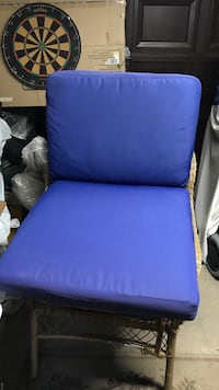 purple and brown wooden frame padded chair Brampton, L6V 1X3