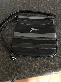 Guess Black and gray leather crossbody bag Barrie