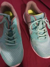 pair of teal Nike running shoes Albany, 12206