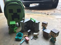 Minecraft bookbag and figures Charlotte