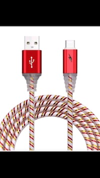 2 Glows in dark Red Pink USB cord Manchester, 03103