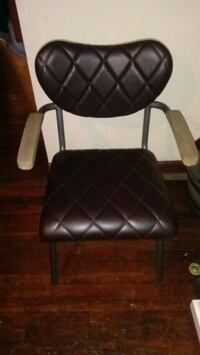 black leather padded rolling armchair Lexington, 40508