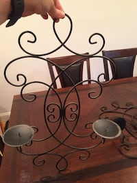 2 black wall decor candle holders  Fall River, 02720