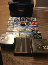 1 terabyte Black Ops 3 PS4/Call Of Duty Mystery Box Edition/Scuff Vantage Controller Wireless/Astro A10 Wired Call Of Duty Edition/ 21 ps4 games plus 1 of your choice on new releases Houston, 77077
