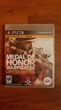 Medal of Honot Sony PS3 game case