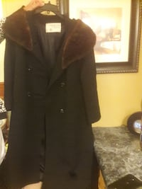 black button-up coat Terre Haute, 47807