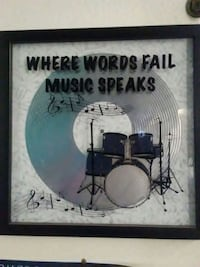 2 music quote frames