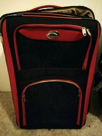 Large red suitcase