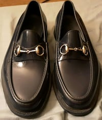 Navy blue Gucci size 8 mens loafers Boston
