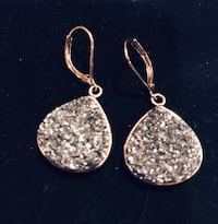 Diamond crushed earrings Silver Spring, 20904